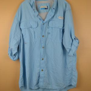 Magellan Outdoors Men's Blue Fish Gear Shirt